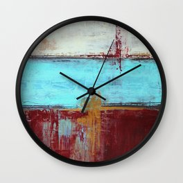 Commandment - Textured Abstract Painting Wall Clock