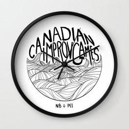 Canadian Improv Games: NB&PEI - Wave Logo Wall Clock
