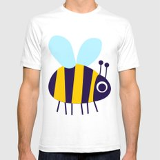 Big Bee Mens Fitted Tee White SMALL
