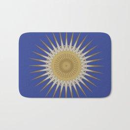 Bright Blue Gold Star Mandala Badematte