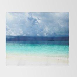Maldives colors Throw Blanket