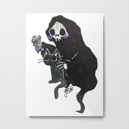 Death and Curiosity Metal Print