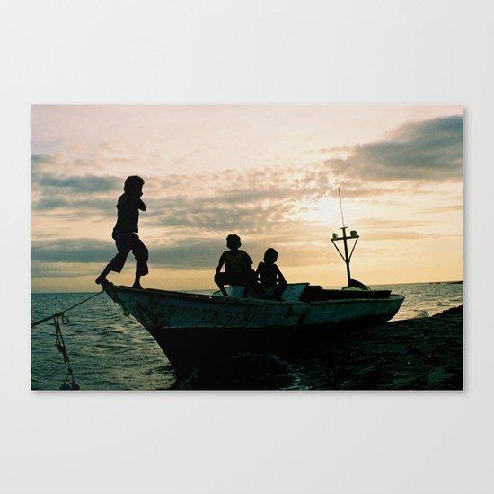 Caribbean Coast Kasusain White Beach Canvas Print