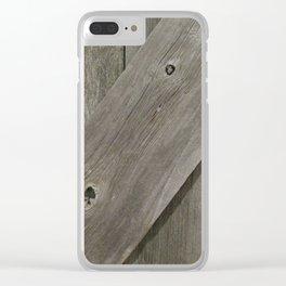 Barn Board Door Clear iPhone Case
