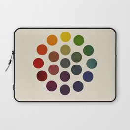 'Parsons' Spectrum Color Chart' 1912, Remake 2 (enhanced) Laptop Sleeve