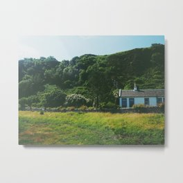 Cottage By the Sea Metal Print
