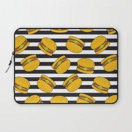 Burger Stripes By Everett Co Laptop Sleeve