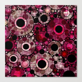 Vibrant Abstract Pink Bubbles design Canvas Print
