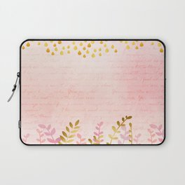 Orchid pink - golden rainforest Laptop Sleeve
