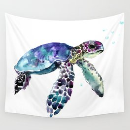 Sea Turtle, Baby Turtle animal artwork for children Wall Tapestry