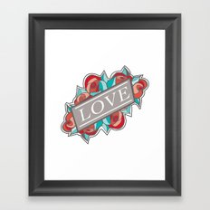 Love & Roses Framed Art Print