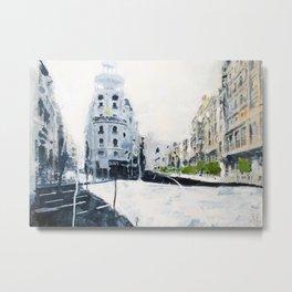 Madrid, Gran Vía. Metal Print