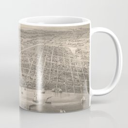 Vintage Pictorial Map of Toledo OH (1860) Coffee Mug