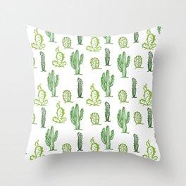 cactus stamp Throw Pillow