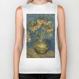 Fritillaries in a Copper Vase by Vincent van Gogh Biker Tank