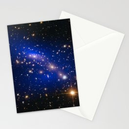 Hubble Space Telescope - Galaxy cluster MACS J0416.1–2403 with dark matter map Stationery Cards