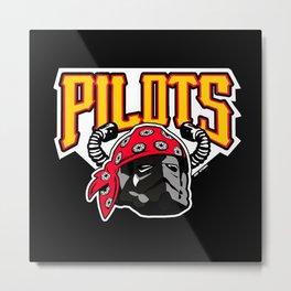 Pit Pilots Metal Print