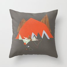 Party In The Mountains//Seven Throw Pillow