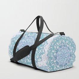 Aqua Lace Mandala Duffle Bag