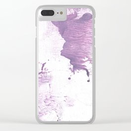 Purple pink abstract Clear iPhone Case