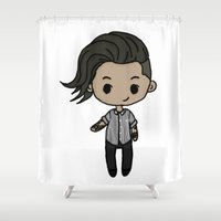 zayn Shower Curtains featuring Melbourne Zayn by clevernessofyou