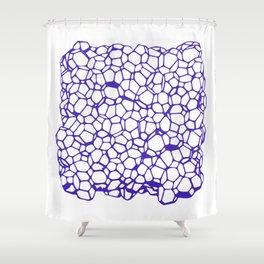 Random Foam (Smashed Blueberry) Shower Curtain