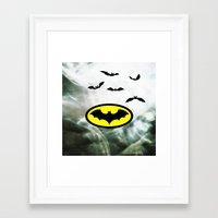 bat man Framed Art Prints featuring Bat man  by haroulita