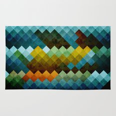 Abstract Cubes BYG Rug