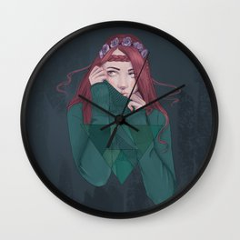 Being Shy is Painful Wall Clock