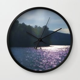 Kayakers on Newfound Lake Wall Clock