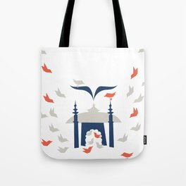 Gathering Birds (Home) Tote Bag