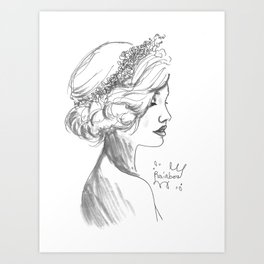 Crowned Art Print