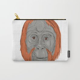 Unflanged Male Orangutan Drawing Carry-All Pouch