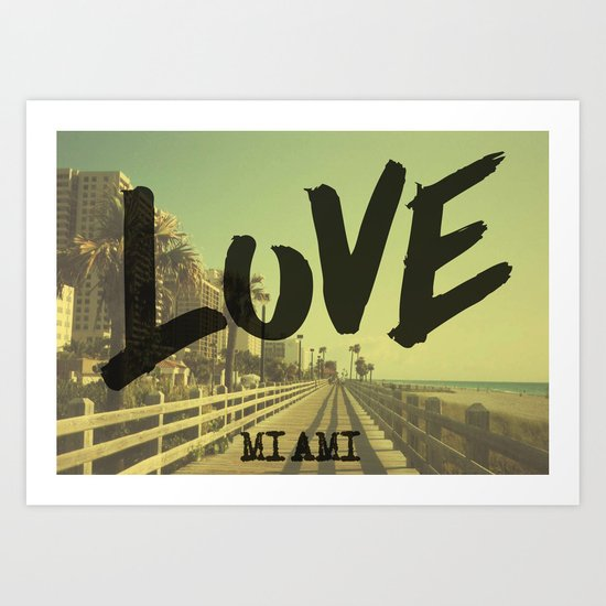 LOVE - Miami - Art Print