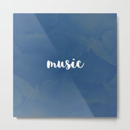 BLUE MUSIC Metal Print