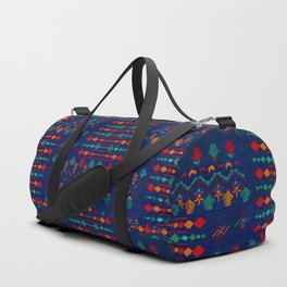 -A17- Anthropologie Moroccan Blue Artwork. Duffle Bag