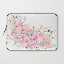 Watercolor Pink Rose Bouquet Laptop Sleeve
