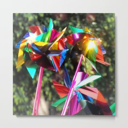 Colorful Summer on Pinwheels Metal Print