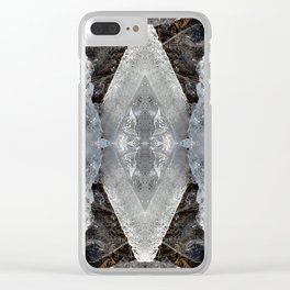 Diamond Ice Jewels Nature Image by Deba Cortese Clear iPhone Case