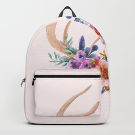Antlers with Flowers Backpack