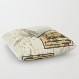 Bird On Screen Floor Pillow