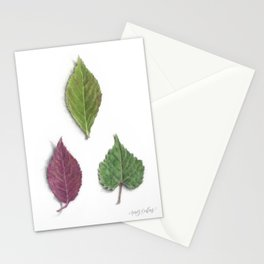 Late Summer Leaves Stationery Cards
