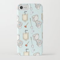 bathroom iPhone & iPod Cases featuring Bathroom Pattern by Josh LaFayette