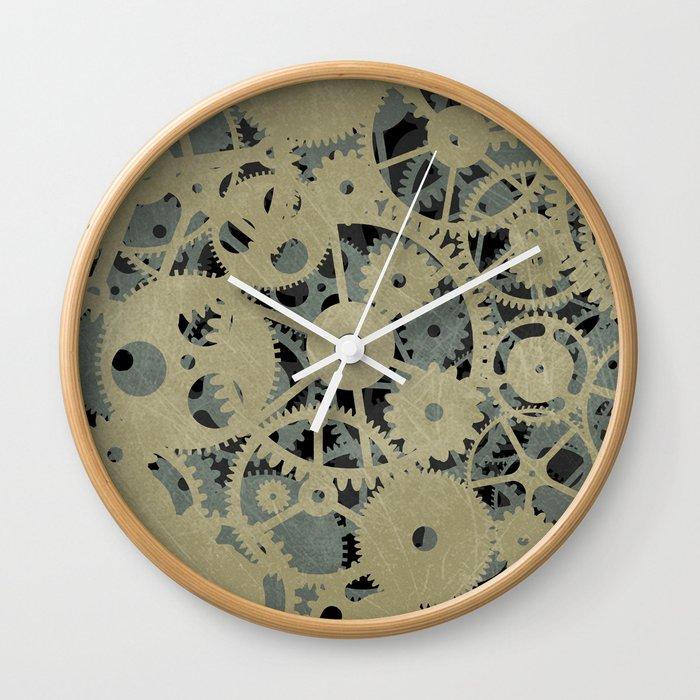 Fallings Cogs Wall Clock