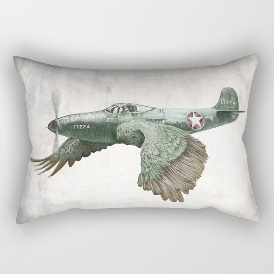 In which it's a bird. It's a plane. (Now in technicolour) Rectangular Pillow