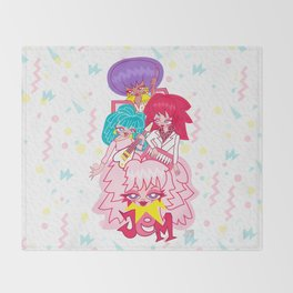 fanart Jem and the Holograms Throw Blanket
