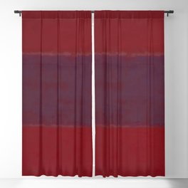1959 No. 301 Red and Blue Over Red by Mark Rothko HD Blackout Curtain