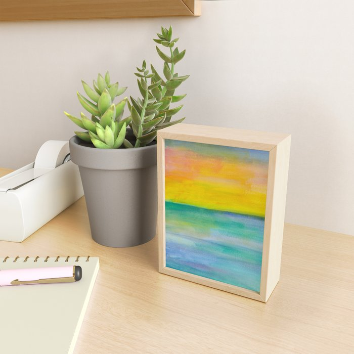 Ocean Sunrise Series 1 Framed Mini Art Print