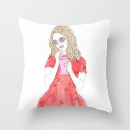 Milk-shake Time Throw Pillow