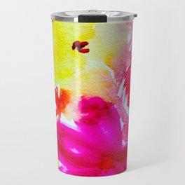 Vibrant Florals Travel Mug